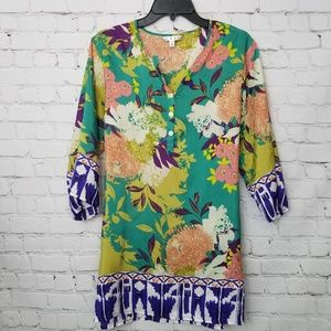 """CAbi Silk """"Poetry"""" Floral Tunic"""
